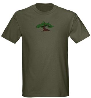 Military Green Dawning Bonsai Tree