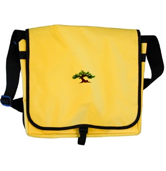 Dawning Bonsai on Yellow Messenger Bag