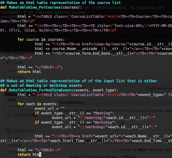 Some random code of mine..